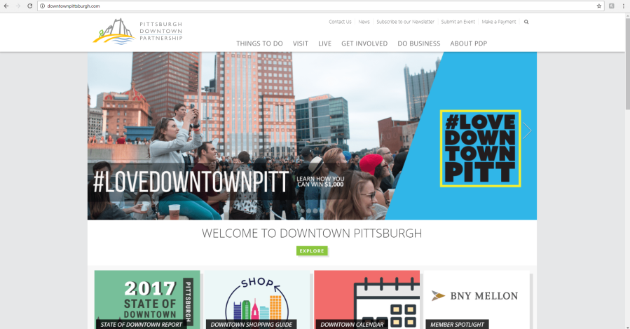LoveDowntownPitt website